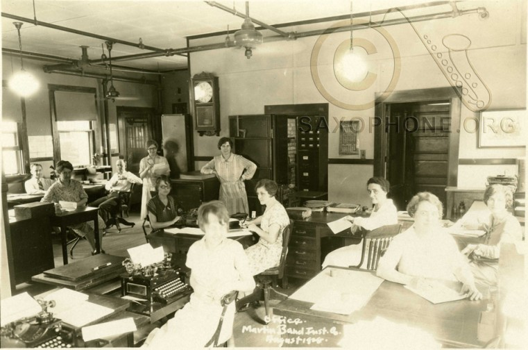 Martin Band Instrument Co- August 1928-Office