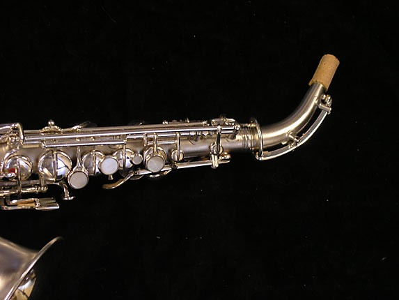 "Conn ""New Wonder"" Silver Plate Curved Soprano - 70327 - Photo # 3"