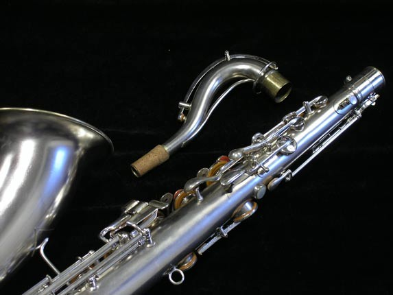 "Conn ""New Wonder"" Matte Silver Plate Tenor - 65941 - Photo # 6"