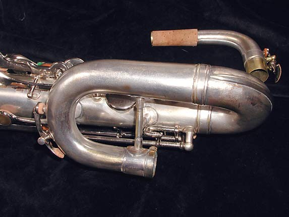 "Buescher Silver Plate Aristocrat ""Big B"" Baritone - 331816 - Photo # 12"