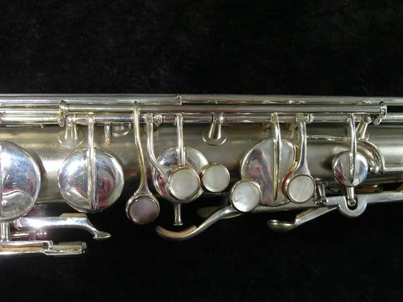 "Conn ""New Wonder"" Matte Silver Plate Tenor - 65941 - Photo # 7"