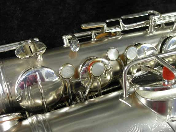 "Conn ""New Wonder"" Matte Silver Plate Tenor - 65941 - Photo # 11"