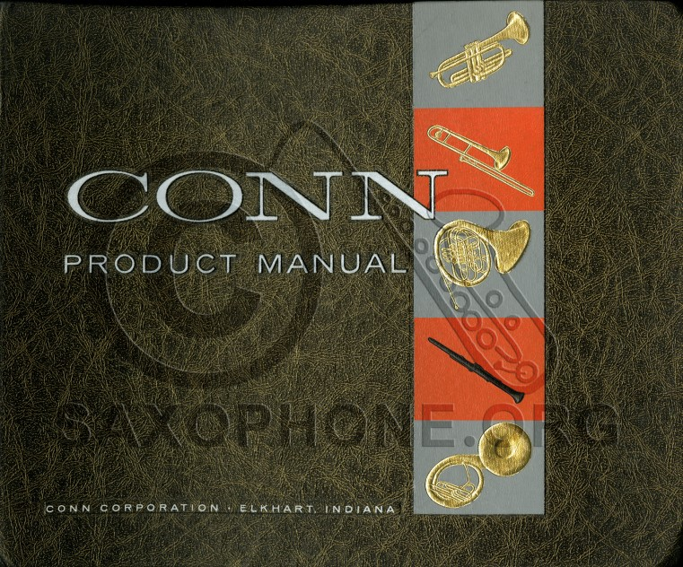 C G  Conn Product Manual 1960s | Saxophone org