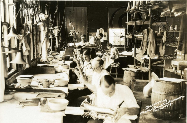 Martin Band Instrument Co- August 1928-Burnishing