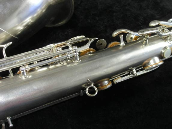 "Conn ""New Wonder"" Matte Silver Plate Tenor - 65941 - Photo # 14"