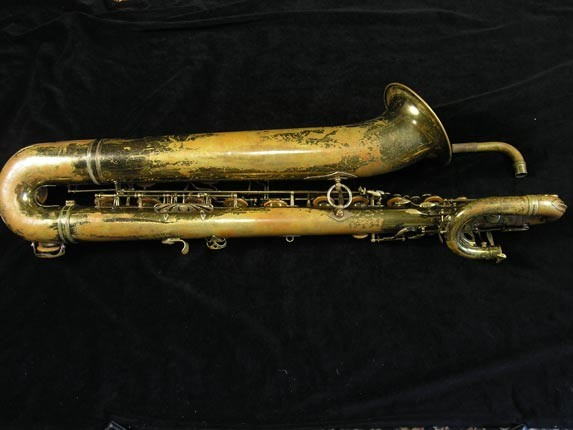 "Selmer Lacquer Mark VI ""Low A"" Baritone - 81129 - Photo # 2"
