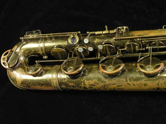 "Selmer Lacquer Mark VI ""Low A"" Baritone - 81129 - Photo # 3"