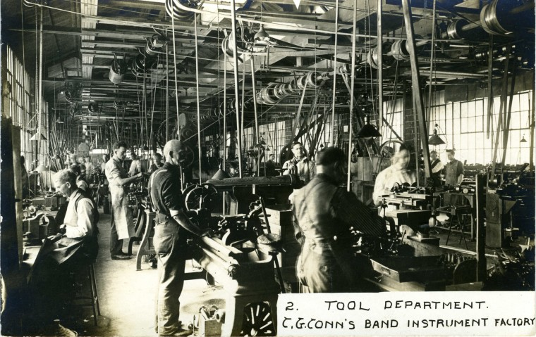 C.G. Conn Band Instrument Factory in 1913 - Tool Department