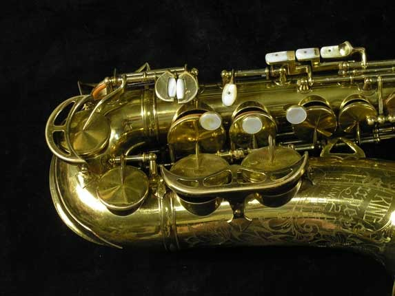King Lacquer-Sterling Neck Super 20 Alto - 303393 - Photo # 2