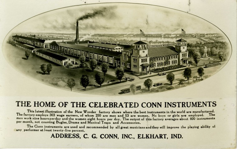 CG Conn Factory overview photo from 1913