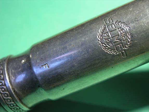 Selmer Scroll Shank Metal Tenor - Photo # 5