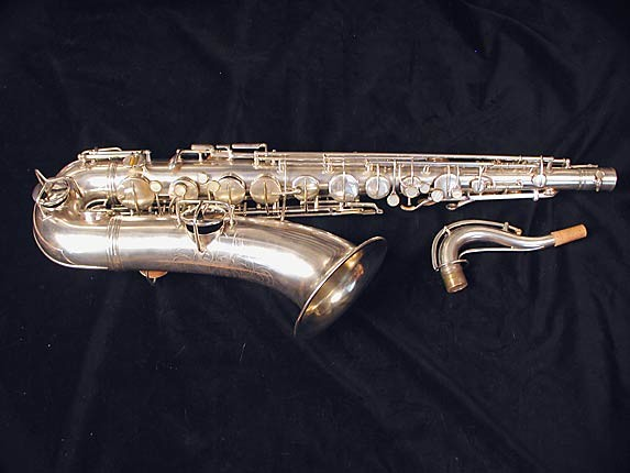 "Conn ""New Wonder"" Matte Silver Plate Tenor - 77595 - Photo # 1"