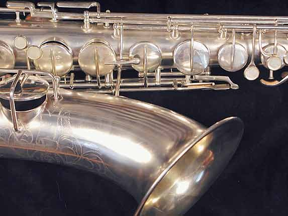 "Conn ""New Wonder"" Matte Silver Plate Tenor - 77595 - Photo # 3"