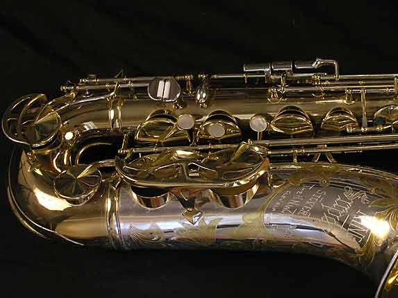 King Silver-Sonic Gold Inlay Super 20 Tenor - 385231 - Photo # 2
