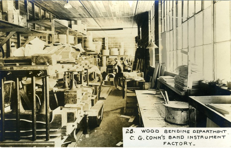 C.G. Conn's Band Instrument Factory 1913-Wood Bending Department