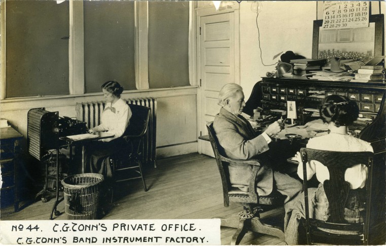 C.G. Conn's Band Instrument Factory 1913-C.G. Conn's Private Office