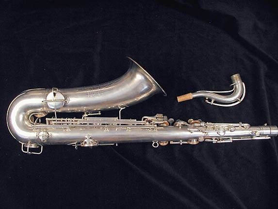 "Conn ""New Wonder"" Matte Silver Plate Tenor - 77595 - Photo # 5"