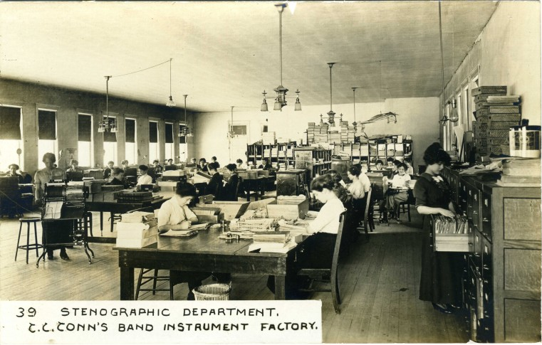 C.G. Conn's Band Instrument Factory 1913-Stenographic Department