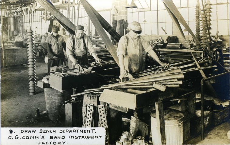 C.G. Conn's Band Instrument Factory 1913-Draw Bench Department
