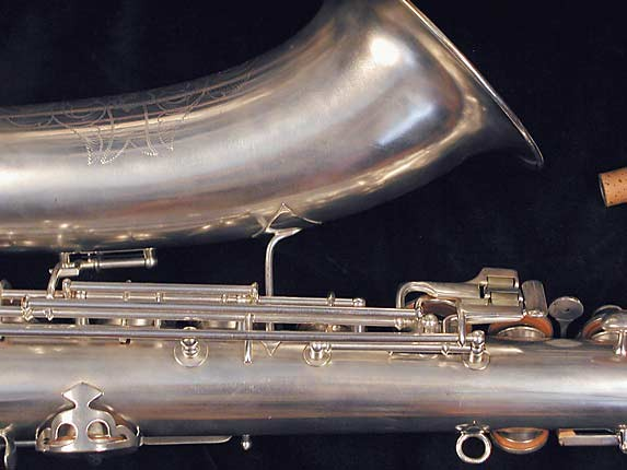 "Conn ""New Wonder"" Matte Silver Plate Tenor - 77595 - Photo # 7"