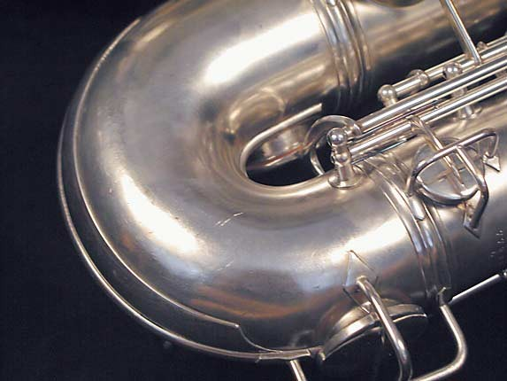 "Conn ""New Wonder"" Matte Silver Plate Tenor - 77595 - Photo # 9"