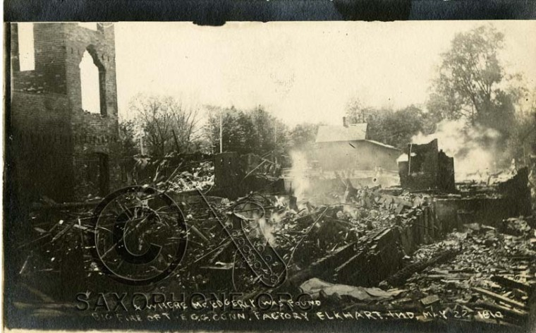 Big Fire of the C.G. Conn Factory May 22, 1910-Elkhart, Indiana-Where Mr. Edgerly was found