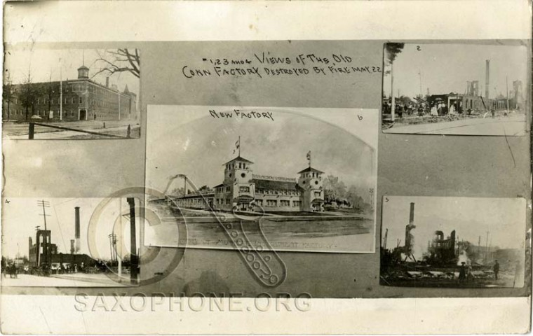 Views of the old Conn Factory destroyed by fire May 22, 1910-Elkhart, Indiana