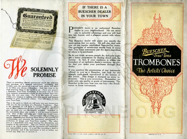 1928 Buescher True Tone Trombones | Saxophone org