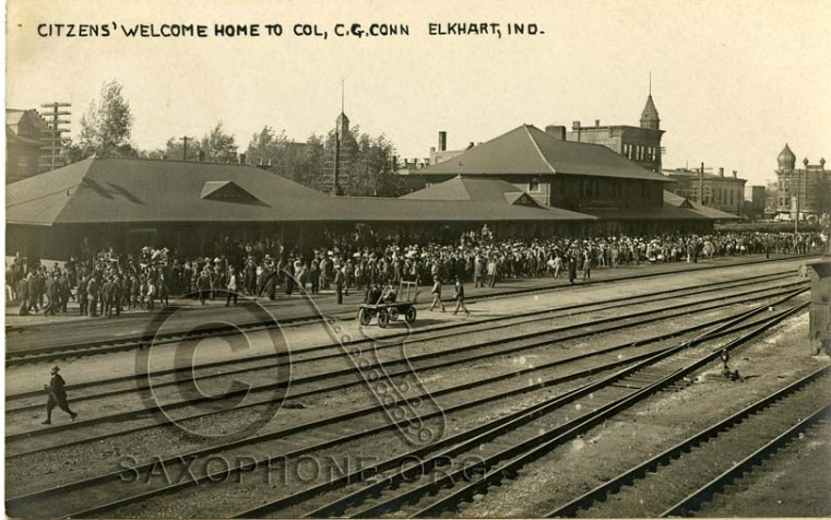 C.G. Conn Elkhart, Indiana-Citizens' Welcome Home to Col