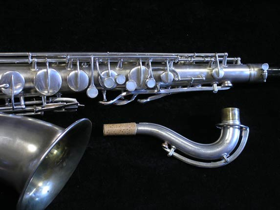 "Conn ""New Wonder"" Matte Silver Plate Tenor - 98888 - Photo # 3"