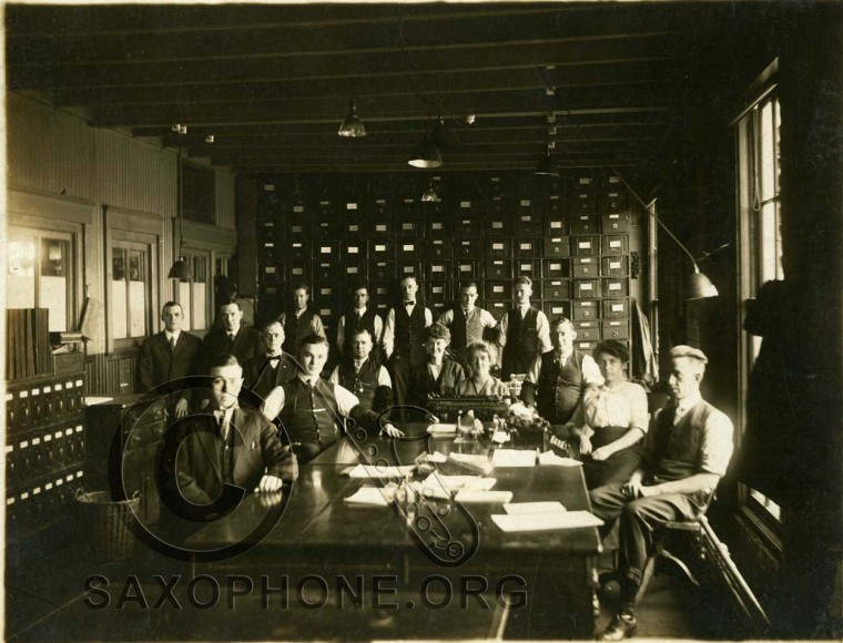 Buescher Sales and Office Staff circa 1910