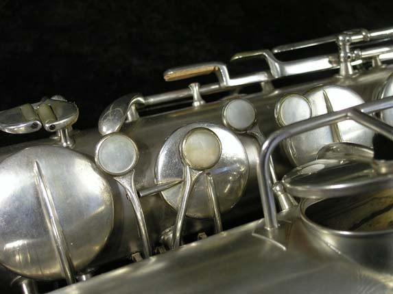 "Conn ""New Wonder"" Matte Silver Plate Tenor - 98888 - Photo # 12"