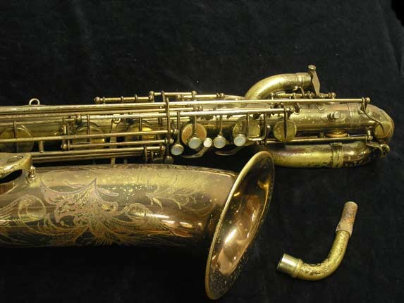 "Selmer Lacquer Mark VI ""Low A"" Baritone - 93188 - Photo # 3"