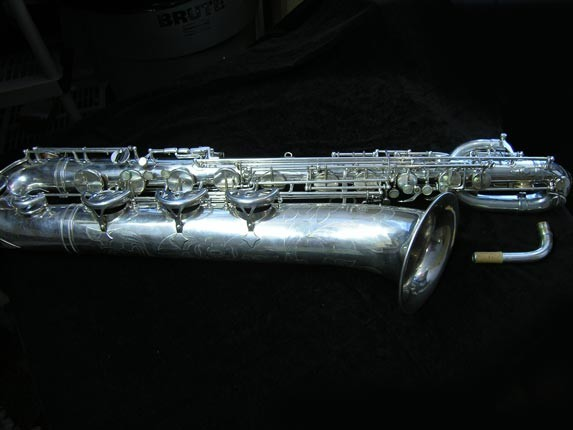 "Selmer Silver Plate Mark VI ""Low A"" Baritone - 138648 - Photo # 1"