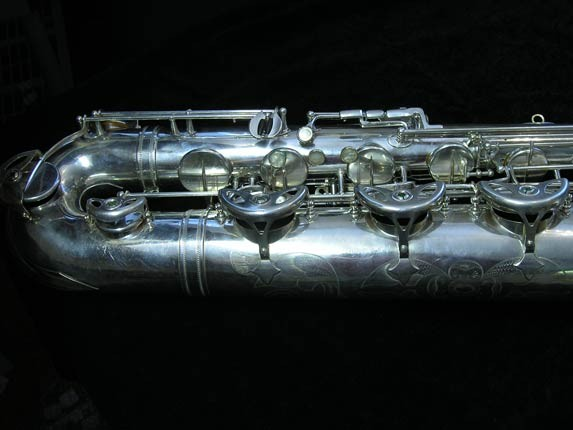 "Selmer Silver Plate Mark VI ""Low A"" Baritone - 138648 - Photo # 2"