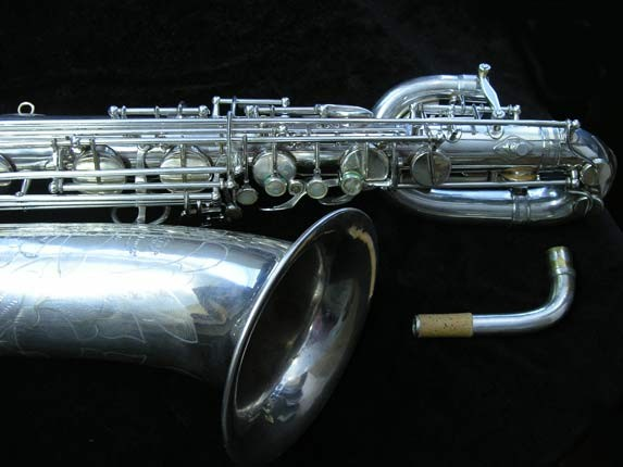 "Selmer Silver Plate Mark VI ""Low A"" Baritone - 138648 - Photo # 3"