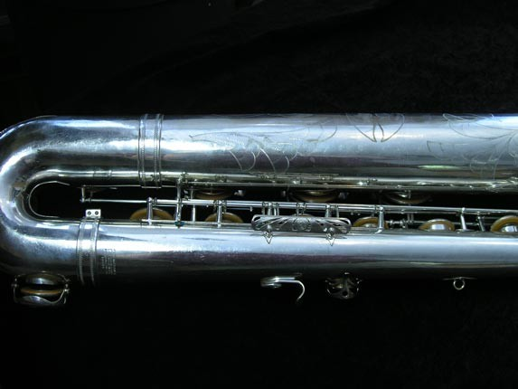 "Selmer Silver Plate Mark VI ""Low A"" Baritone - 138648 - Photo # 4"