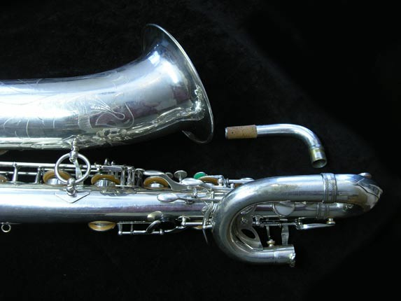 "Selmer Silver Plate Mark VI ""Low A"" Baritone - 138648 - Photo # 5"