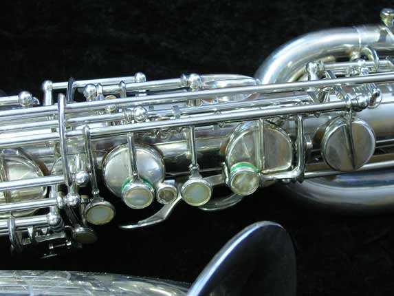 "Selmer Silver Plate Mark VI ""Low A"" Baritone - 138648 - Photo # 6"