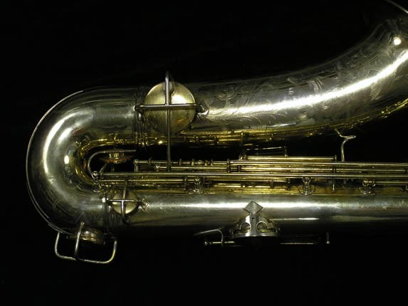 "Conn ""Portrait"" Gold Plate ""Nude Woman"" Tenor - 119399 - Photo # 5"