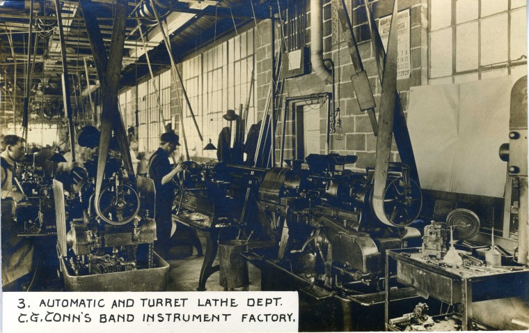 C.G. Conn's Band Instrument Factory-Automatic and Turret Lathe Dept