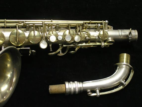"C.G. Conn Silver w/ Gold Keys ""New Wonder"" Alto - 112642 - Photo # 3"