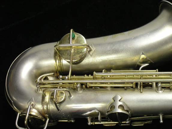 "C.G. Conn Silver w/ Gold Keys ""New Wonder"" Alto - 112642 - Photo # 5"
