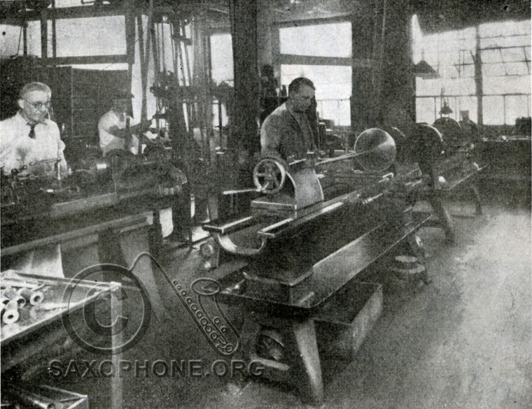 H.N. White King factory-1934-Section of the Lathe Department
