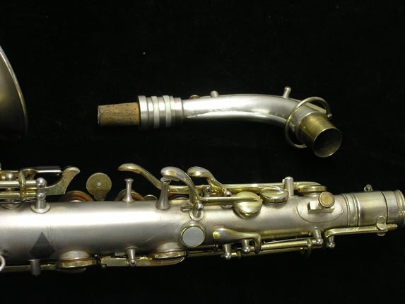"C.G. Conn Silver w/ Gold Keys ""New Wonder"" Alto - 112642 - Photo # 6"