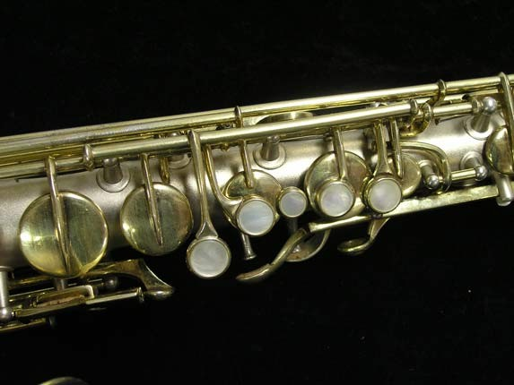 "C.G. Conn Silver w/ Gold Keys ""New Wonder"" Alto - 112642 - Photo # 7"