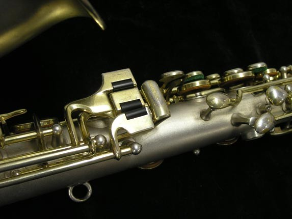 "C.G. Conn Silver w/ Gold Keys ""New Wonder"" Alto - 112642 - Photo # 8"