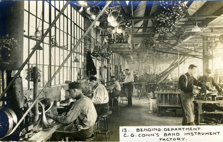 C.G. Conn's Band Instrument Factory 1913-Bending Department