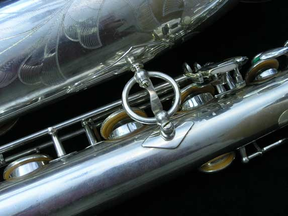 "Selmer Silver Plate Mark VI ""Low A"" Baritone - 138648 - Photo # 23"