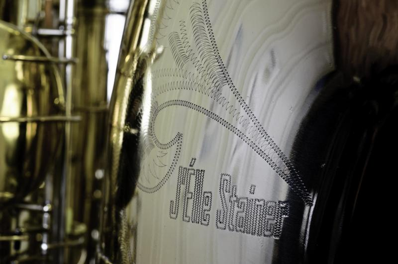 J'ELLE STAINER Double Bb SUB-CONTRABASS SAXOPHONE on www.saxophone.org